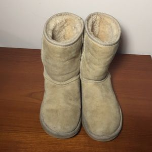 Ugg Leather Soft  Boots Classic Short Blonde 5